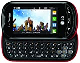 Verizon LG Extravert No Contract QWERTY 2MP Camera Touchscreen Cell Phone - Red/Black - For Verizon Postpaid Plans