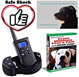 Dog Training Collar with Remote. Shock Collar. Clicker Training for Puppies. 1500 feet 100 Levels. The Best Shock Collar & Training Book for E Collar Dog Training