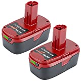 Lasica 19.2-Volt Battery 5000mAh Replacement for 19.2V Craftsman XCP C3 Lithium Battery 130211004 11375 11045 130279005 Cordless Power Tools (5000mAh 2 Pack)