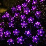 Innoo Tech Solar Outdoor String Lights 21ft 50 LED Purple Blossom Christmas Lights for Bedroom,Garden,Walkway