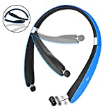Bluetooth Headset, Bluetooth Headphones SX991-LBell Wireless Neckband Design with Foldable Retractable Headset for iPhone X/ 8/ 7 Plus Samsung Galaxy S8 Note 8 and Other Bluetooth Enabled Devices