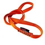 GM CLIMBING Pack of 3 16mm Nylon Sling Runner 60cm / 24inch (Fluorescent Orange)