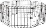 AmazonBasics Foldable Metal Pet Dog Exercise Fence Pen - 60 x 60 x 24 Inches