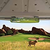 HKOO Golf cart Rear View Mirror,16.5' Extra Wide 180 Degree Panoramic Rear View Mirror For Golf Cart EZGO Club Car Yamaha