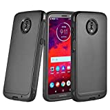 Moto Z3 Moto Z3 Play Case - Rugged Design Protective Heavy Duty Dual Layer Black (Does not Work with Other Models Moto Z2 Force, Moto Z, Z Force, and Z-Play 1st gen) CaseTek