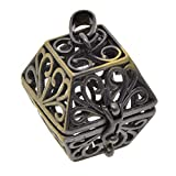 CUTICATE Hollow Out Brass Aromatherapy Essential Oil Diffuser Locket Cage Pendant