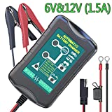 LST Trickle Battery Charger Automatic Maintainer 6V 12V Portable Smart Float for Auto Car Motorcycle Lawn Mower SLA ATV AGM GEL CELL Lead Acid Batteries