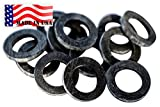 Backyard Dudes Garden Hose Heavy Duty Rubber Washer 12 Pack Made in USA Used by Aero Space & Aircraft OK Washing Machine hot Water & Outdoor Garden Hose Temp -45