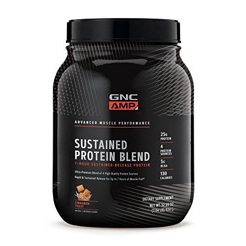 GNC AMP Sustained Protein Blend, Cinnamon Toast, 2.04 lbs.