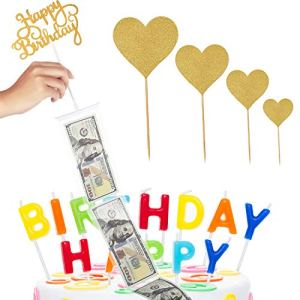 Cake Money Box Set Glitter Heart Cake Toppers Happy Birthday Cake Topper for Birthday Party Decoration 51 2Bz2KdMv5L