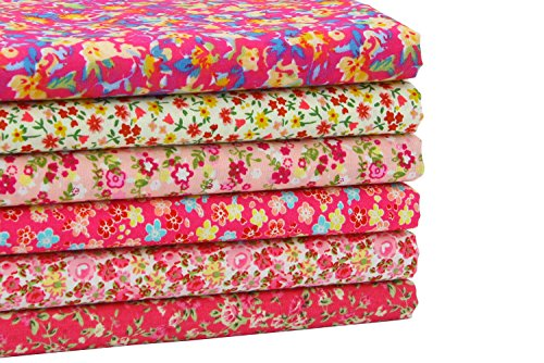 iEFUN 6pcs 100% Cotton Fat Quarters Fabric For Quilting Sewing Crafting, 18