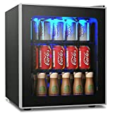 COSTWAY Beverage Refrigerator and Cooler, 60 Can Mini Fridge, Adjustable Removable Shelves, Perfect for Soda Beer or Wine Small Drink Dispenser Machine for Office or Bar (17.5' x 18' x 19.5')