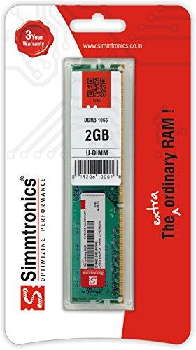 Simmtronics 2GB DDR3 Desktop RAM 1066 MHZ 155