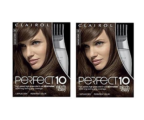 Clairol Perfect 10 Hair Color 006 Light Brown Chocolate Shake