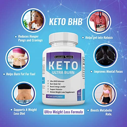Keto BHB Ultra Burn - Advanced Weight Loss for Ketogenic Diet - Weight Loss Pills - 30 Day Supply - 60 Capsules 6