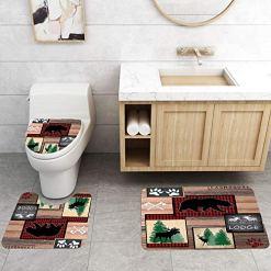 Cabin Shower Curtain 4pc Bath Set