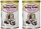Trader Joe's Baking Powder Aluminum Free & Double Acting 8.1 Oz (Pack of 2)