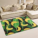 Jpopo Doormats Banana Pattern Area Rug Doormat 60' L x 39' W Non Slip Floor Rug Entrance Mat Indoor Bathroom Mats for Bathroom Dining Room Decorative