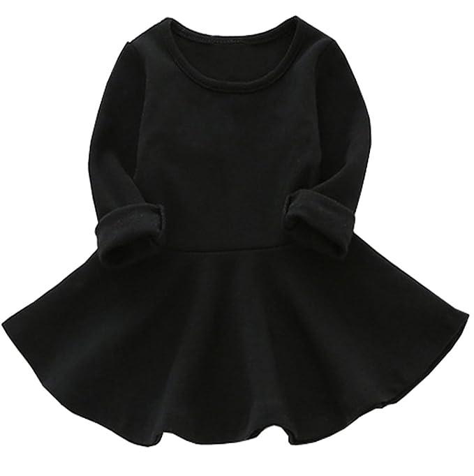 vestido de volante sólidohttps://amzn.to/2rpcF3B
