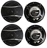 4 Pioneer 6.5 Inch 3-Way 640 Watt Car Coaxial Stereo Speakers Four | TS-A1676R