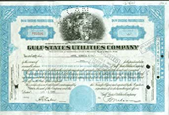 Gulf States Utilities Company Stock Certificate 1949 at ...