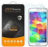 Supershieldz [2-Pack] for Samsung Galaxy S5 Tempered Glass Screen Protector, Anti-Scratch, Anti-Fingerprint, Bubble Free, Lifetime Replacement