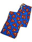 Superman - Mens Superman Broadcloth Lounge Pant, Blue 36551-Medium