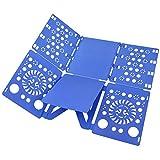 Boxlegend v2 shirt folding board t shirts clothes folder durable plastic laundry folders folding boards flipfold, blue
