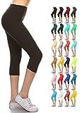 Product review of Leggings Depot Higher Waist Women's Buttery Soft Solid Yoga Capri Leggings - Many Colors