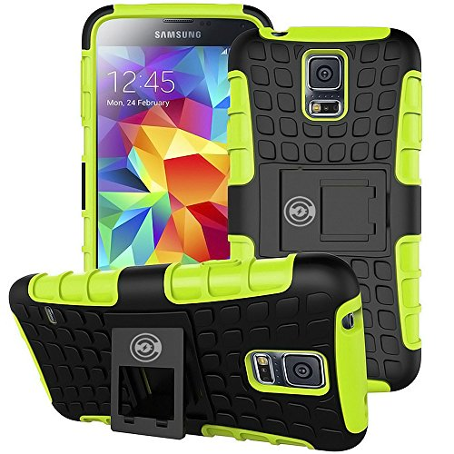 Galaxy S5 Cases for Women Or Men, Galaxy S5 Case Green (Caso) - Ultra Tough Wallet Thin Protection for Your Samsung Galaxy S5 Phone (Green)