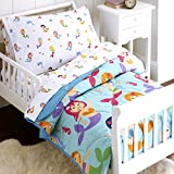Wildkin 4 Piece Toddler Bed-in-A-Bag, 100% Microfiber Bedding Set, Includes Comforter, Flat Sheet, Fitted Sheet, and Pillowcase, Coordinates with Other Room Décor, Olive Kids Design - Mermaids
