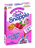 Diet Snapple Singles To Go Water Drink Mix -  Raspberry Tea Flavored Powder Sticks (12 Boxes with 6 Packets Each - 72 Total Servings)
