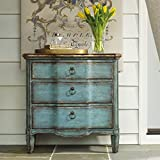 Product review for Hooker Furniture 500-50-878 Three Drawer Turquoise Chest, Blue