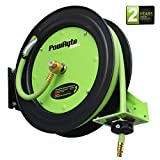 PowRyte Elite Retractable Air Hose Reel with 3/8-Inch by 50-Feet Rubber Air Hose
