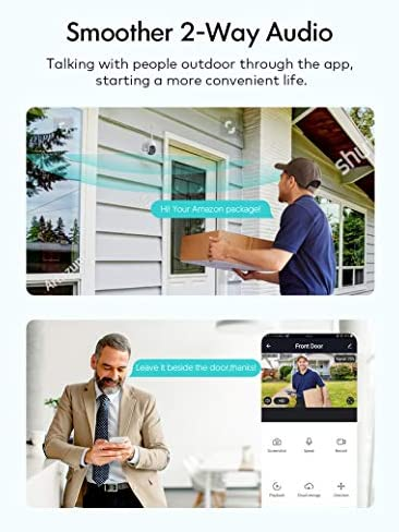 Security Camera Outdoor, Voger 360° View WiFi Home Security Camera System 1080P with IP66 Weatherproof Motion Detection Night Vision 2-Way Audio Cloud Camera Works with Alexa and Google Home 17
