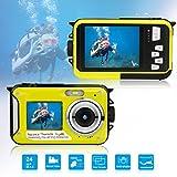 Waterproof Underwater Digital Camera for Snorkeling,Selfie Dual Screen Digital Cameras Waterproof Underwater Video Camera--Holiday,Trip