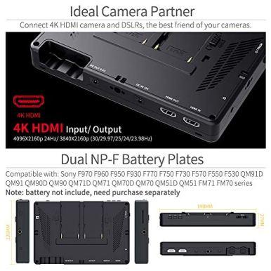 FEELWORLD-LUT7-7-Inch-Ultra-Bright-2200nit-Touch-Screen-Camera-DSLR-Field-Monitor-with-3D-Lut-Waveform-Vectorscope-Automatic-Light-Sensor-1920x1200-Video-Assist-4K-HDMI-Input-84V-DC-Output-Tilt-Arm
