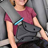 Seat Belt Cover and Adjuster for Kids,Travel Seatbelt Pillow with Clip & Seatbelt Adjuster,Soft Neck Support Headrest Car Seat Strap Protector Cushion Pads for Baby Child Short People Adult (Gray)