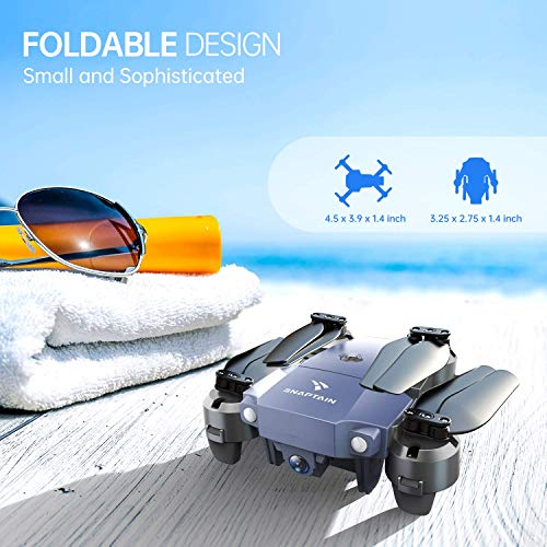 SNAPTAIN-A10-Mini-Foldable-Drone-with-720P-HD-Camera-FPV-WiFi-RC-Quadcopter-wVoice-Control-Gesture-Control-Trajectory-Flight-Circle-Fly-High-Speed-Rotation-3D-Flips-G-Sensor-Headless-Mode