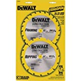 DEWALT DW9158 6-1/2-Inch Saw Blade Pack with 18- and 24-Tooth Saw Blades, 2-Pack