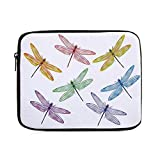 Dragonfly,Group of Dragonflies with Colored Patches Elongated Body Winged Animal Design,One Size