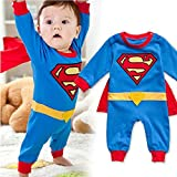 Peachi Superman Superbaby 1 piece Baby Toddler Infant Rompers Unisex 12m-3T (3T (95))