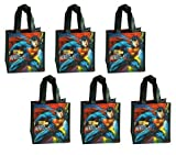 6-Pack Superman Non-Woven Reusable Mini Party Tote Bags