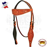 Product review for HILASON WESTERN LEATHER HORSE BRIDLE HEADSTALL MAHOGANY FLORAL CARVED