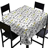 haommhome Oil-Proof and Leak-Proof Tablecloth American New York Statue of Liberty Soft and Smooth Surface W70 xL70 Great for Buffet Table