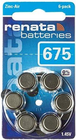 Renata 675 / ZA675 / PR44 Hearing Aid Battery 1.45V - 1x Blister