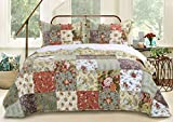 Greenland Home Blooming Prairie King 3-Piece Bedspread Set