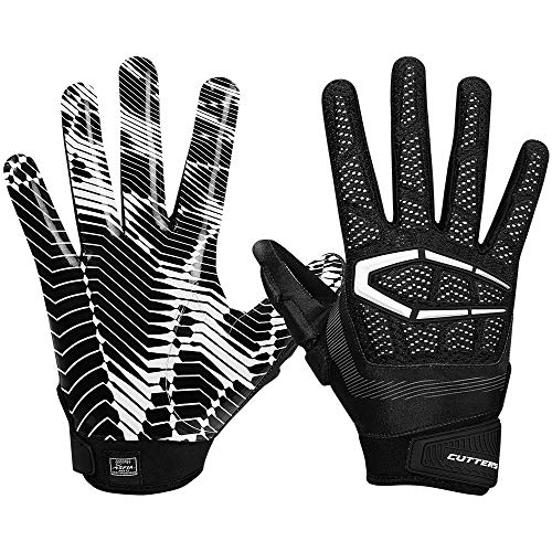 Cutters S652 Gamer 3.0 Padded Receiver Glove-Adult: X-Large-BLACK