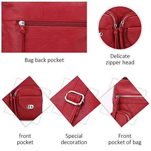 Crossover Purse and Handbags Crossbody Bags for Women Soft Leather Wallet Cute Small Neatpack Bag with Pockets 5 Fashion Online Shop gifts for her gifts for him womens full figure
