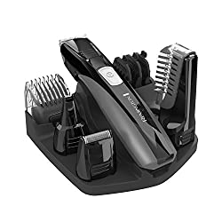 Remington PG525 Head to Toe Lithium Powered Body Groomer Kit, Beard Trimmer (10 Pieces)  Image